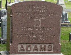 Mary E <i>Nutting</i> Adams