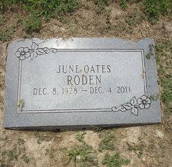June <i>Oates</i> Roden
