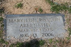 Mary Lou <i>Rosson</i> Abernathy