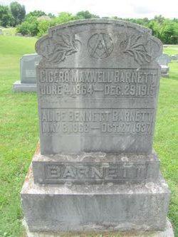Alice <i>Bennett</i> Barnett