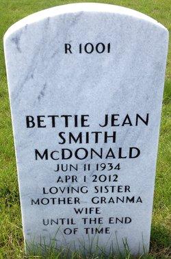 Bettie Jean <i>Smith</i> McDonald