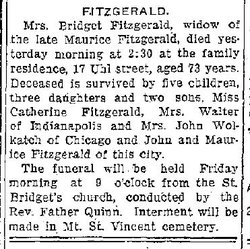 Bridget <i>O'Connor</i> Fitzgerald