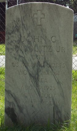 Sgt John Guy Baublitz, Jr
