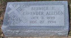 Bernice Hildred <i>Cavender</i> Allison