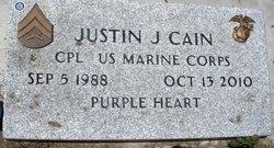 Corp Justin J Cain