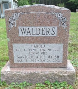 Marjorie Alice <i>Marsh</i> Walders