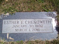 Esther E. <i>Saulsbury</i> Chenoweth
