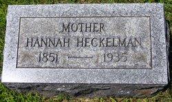 Hannah M <i>Purdy</i> Heckleman