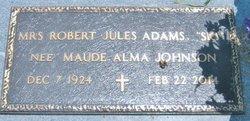 Maude Alma Ski <i>Johnson</i> Adams