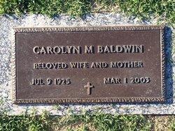 Carolyn M Baldwin