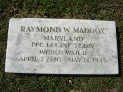 PFC Raymond W Maddox