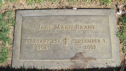 Jane <i>Mann</i> Brant