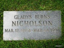 Gladys Helen Olivia <i>Burns</i> Nicholson