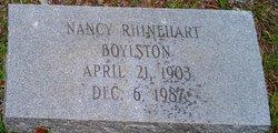 Nancy <i>Rhinehart</i> Boylston