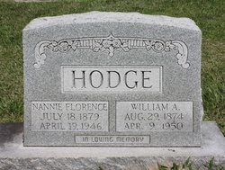 Nannie Florence <i>Hollaway</i> Hodge