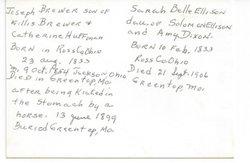 Sarah Belle <i>Ellison</i> Brewer
