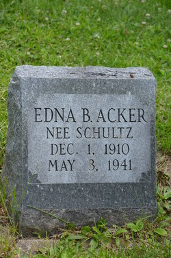 Edna B. <i>Schultz</i> Acker