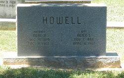 Alice E <i>Jump</i> Howell