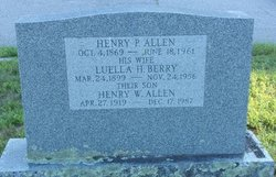 Luella Hattie <i>Berry</i> Allen