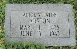 Alice Etta <i>Vitatoe</i> Abston