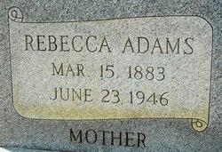 Rebecca Taylor Beckie <i>Walker</i> Adams