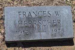 Frances Jane <i>Williams</i> Herrscher
