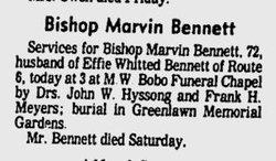 Bishop Marvin Bennett