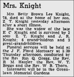 Betty <i>Brownlee</i> Knight