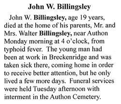 John W. Billingsley