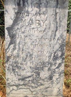 Mary <i>Johnson</i> Hardy