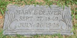 Mary E <i>Leatherwood</i> Deaver
