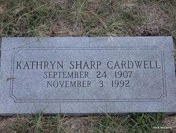 Kathryn <i>Sharp</i> Cardwell