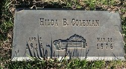 Hilda Bernice <i>McClard</i> Coleman