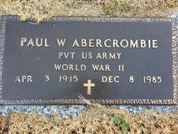 Paul W Abercrombie