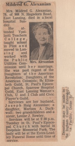 Mildred G Alexanian