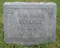 Edna <i>Haines</i> Bathurst