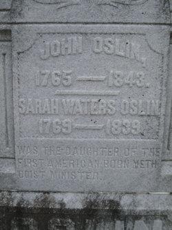 Sarah <i>Waters</i> Oslin