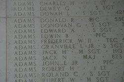 PFC John Ernest Adams, Jr