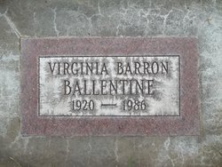 Virginia M <i>Barron</i> Ballentine