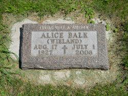 Alice Marie <i>Wieland</i> Balk