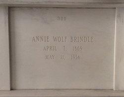 Anna Catherine Annie <i>Wolf</i> Brindle