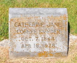 Catherine Jane Kate <i>Coffee</i> Snyder