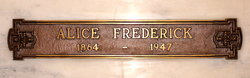 Alice <i>Foster</i> Frederick