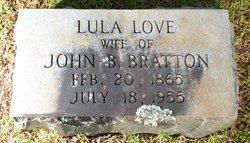 Margaret Elizabeth Louise Lula <i>Love</i> Bratton