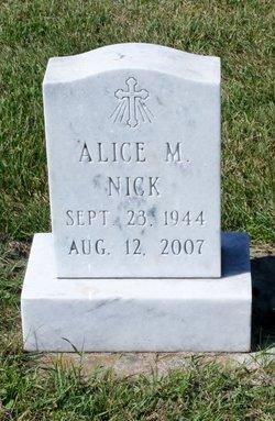 Alice <i>Schulist</i> Nick