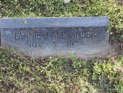 Fannie B <i>Hilliard</i> Alexander