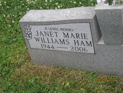Janet Marie <i>Williams</i> Ham