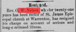 Rev George Washington Nelson