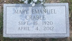 Mary Evelyn <i>Emanuel</i> Crable