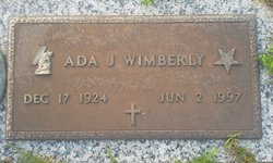 Ada Jeanette <i>Jackson</i> Wimberley Upchurch